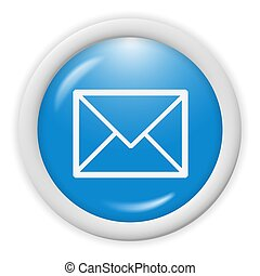 email icon - 3d blue email icon sign - web design...