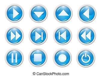 icon - 3d blue icon symbol - web design graphics
