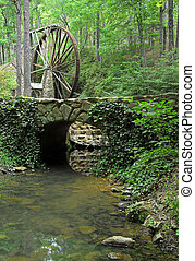 Mountain Grinding Mill - 1930 water wheel grinding mill in a...