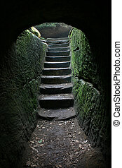 Cave exit 2 - Stairs at the end of a cavemore in my...