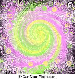 Black Fantasy Swirl - A design with a fantasy, mystical...