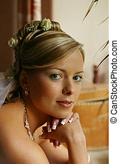 Beautiful bride - Portrait of the smiling beautiful bride