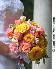 Wedding Bouquet - Close-up of a brides bouquet