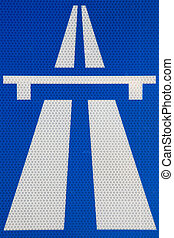 Traffic sign 2 - Traffic sign of a highway