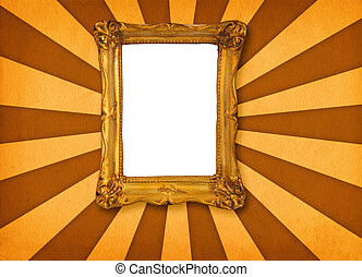 frame on retro background #3 - old hollow picture frame on...