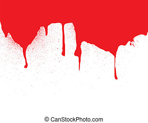 header blood dribble - Illustrated header or background for...