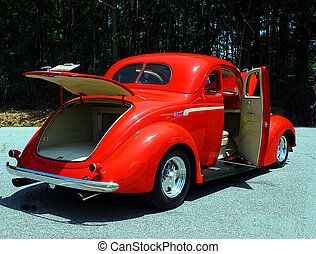 Car Show - Photographed customized vintage car at show in...