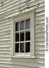 Old Colonial Window - Close Up of An Old Colonial Window