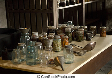 Shaker Kitchen items on a table
