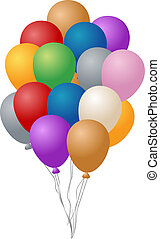 Party balloons - Festive party balloons, inflated and...