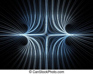 Magnetic field - Abstract fractal background. Computer...