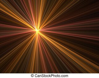 Speed motion blur - Abstract fractal background. Computer...