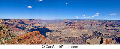 Grand Canyon Panoramic - A panoramic view of the Grand...