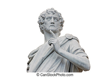 Roman Statue isolated over white background