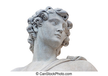 Roman Statue - Roman statue isolated over white background