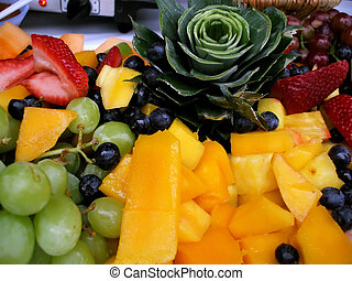 Fresh Fruit Platter - fresh fruit platter with grapes,...
