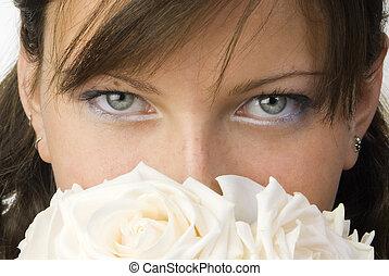 look behind roses