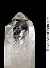 Quartz Crystal - black background - Strongly bound structure...