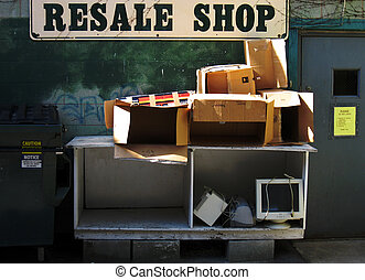 Back of a resale shop - The back of a resale shop empty...