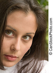 Face Of Beauty - Extreme closeup of a beautiful young...