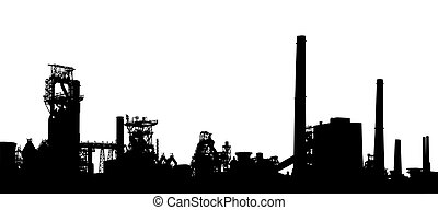 Industrial foreground - Detailed illustration of an...