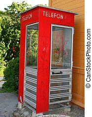 Telephone box - Old Norwegian telephone box
