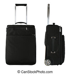 Travel Bags - Black travel bag from front and side view