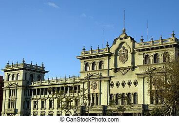 nacional, palacio, guatemala, ciudad