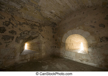 fortaleza ozama santo domingo interior jail cell - interior...