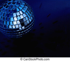 disco ball - blue disco ball