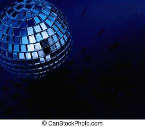 disco ball - blue disco ball