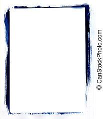 blue frame - hand made blue frame