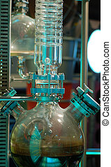 Petroleum distilation - experiment showing distillation...