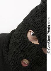 criminal - evil criminal wearing military mask