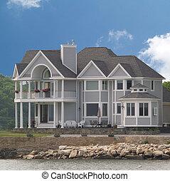 House on beach - Large House built on beach of ocean or lake...