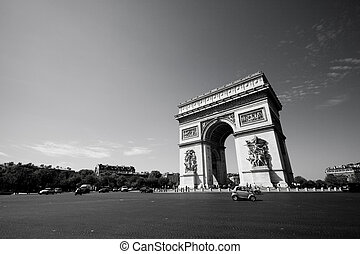 L\\\'Arc de Triomphe - Wide angle view of the Arc de...