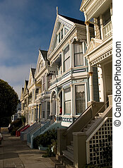 Alamo Houses from the side, San Francisco