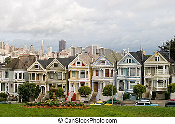7 Victorian Houses - San Francisco famous seven sisters