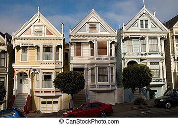 Alamo Houses from the front, San Francisco California