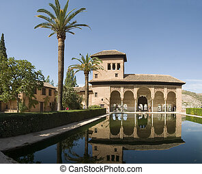 Reflection Pool - The Alhambra (Arabic: Al Hamra; literally...
