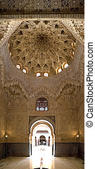 Alhambra Ceiling and Door - more from spain in my portfolio