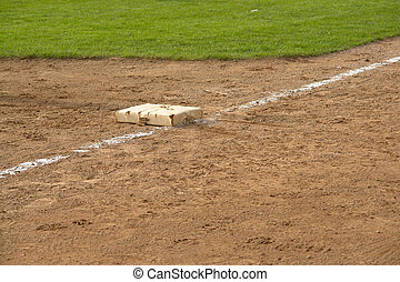 The Lone Base - Third Baseline And Base on a baseball field
