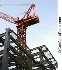 Large Scale Construction - -- with a heavy duty crane and...