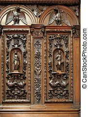Antique Closet with Wood Carvings - -- beautiful Dutch...