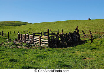 Abandoned Corral in field at Mountain House CA