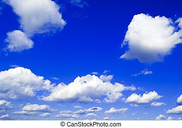 The beautiful clouds. - The white clouds on background sky.