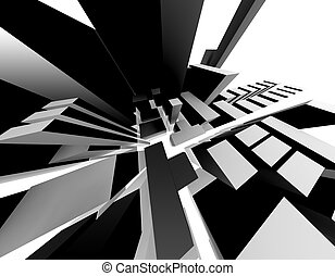 Abstract City - 3D-Rendering of an abstract city....