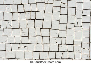 White mosaics background