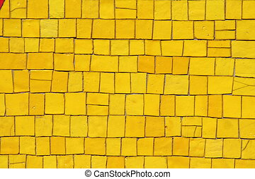 Yellow mosaics background