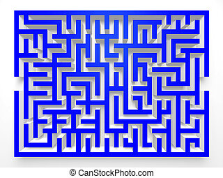 Labyrinth Maze.3D Top view.